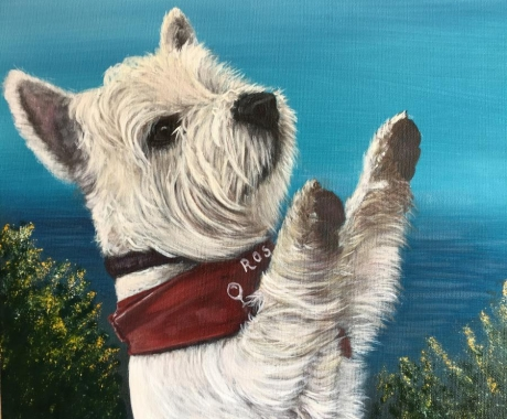 West highland terrier commission
